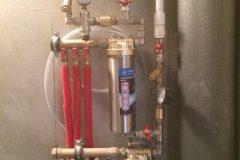 Разводка труб водоснабжения с фильтрами