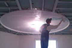 работы по сложному потолку из гипсокартона